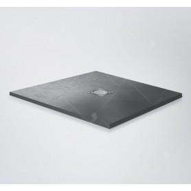 Поддон из литого камня RGW ST-G 100х100 чёрный (графит)