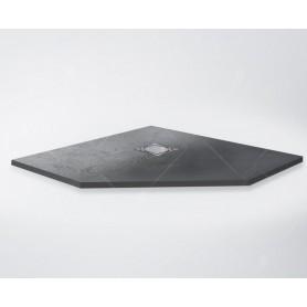 Поддон из литого камня RGW ST/T-G 100х100 чёрный (графит)