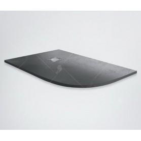 Поддон из литого камня RGW ST/AL-G 120х80 (левый) чёрный (графит)