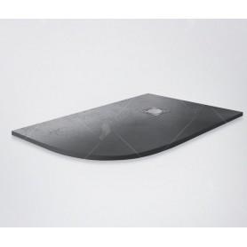 Поддон из литого камня RGW ST/AL-G 120х80 (правый) чёрный (графит)