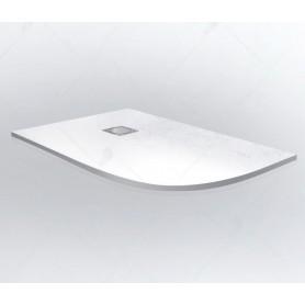 Поддон из литого камня RGW ST/AL-W 120х80 (левый) цвет белый
