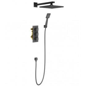 Душевая система скрытого монтажа Timo Tetra-Thermo SX-0179/03SM с термостатом цвет чёрный
