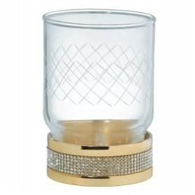 Стакан настольный Boheme Royale Cristal 10931-G цвет золото