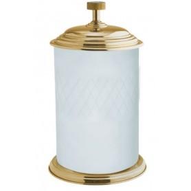 Ведро для ванной Boheme Royale Cristal 10934-G золото / белый