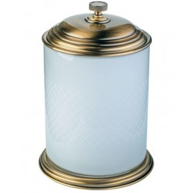 Ведро для ванной Boheme Royale Cristal 10934-BR бронза / белый