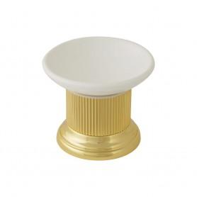 Мыльница настольная Migliore Fortuna 27933/27670 золото (керамика)