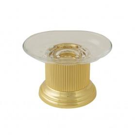 Мыльница настольная Migliore Fortuna 27933/27750 золото (стекло прозрачное)