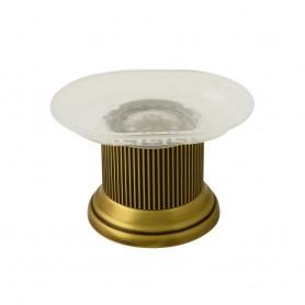 Мыльница настольная Migliore Fortuna 27932/27803 бронза (стекло матовое с декором)