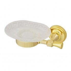 Мыльница настенная Migliore Fortuna 27699/27803 золото (стекло матовое с декором)