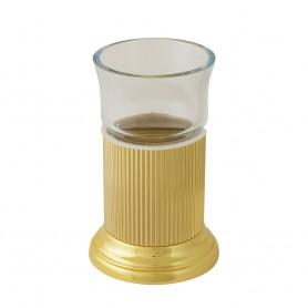 Стакан настольный Migliore Fortuna 27930/27751 золото (стекло прозрачное)