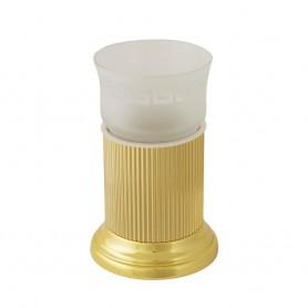 Стакан настольный Migliore Fortuna 27930/27804 золото (стекло матовое с декором)