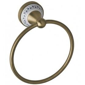 Полотенцедержатель кольцо Bemeta Kera 144704067 цвет бронза