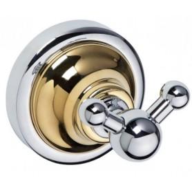 Крючок двойной Bemeta Retro 144206038 хром / золото