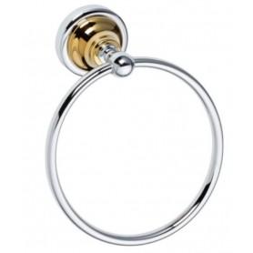 Полотенцедержатель кольцо Bemeta Retro 144204068 хром / золото