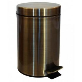 Ведро для мусора 3 л Bemeta Hotel 104315023 цвет бронза
